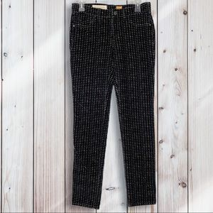 Anthro: Pilcro   Houndstooth Serif Skinny Jeans